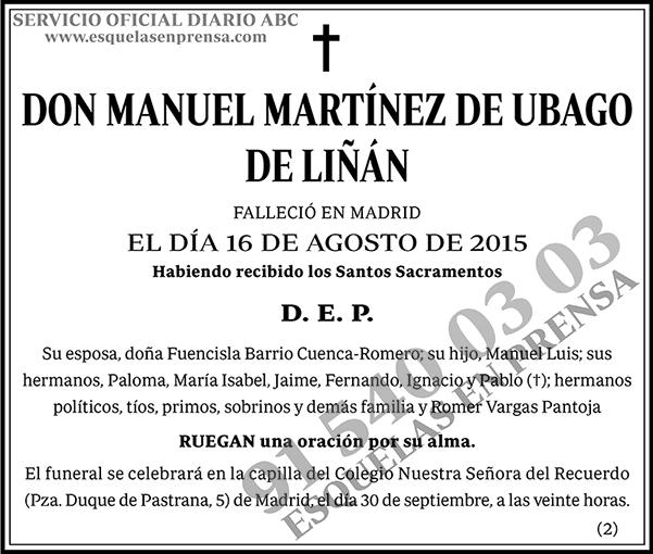 Manuel Martínez de Ubago de Liñan